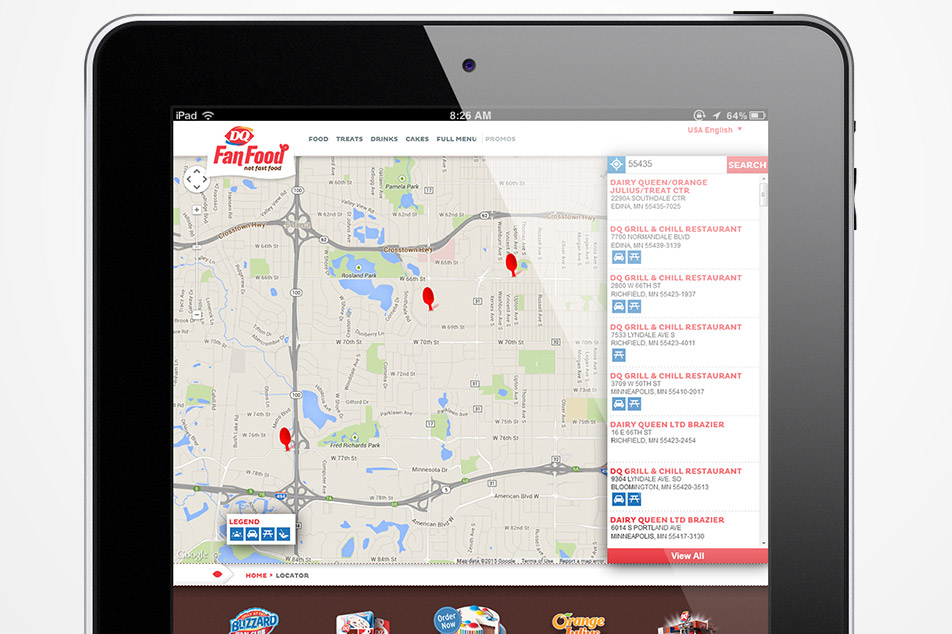 Dairy Queen Locator Mockup