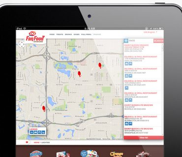 Dairy Queen Store Locator - Tablet