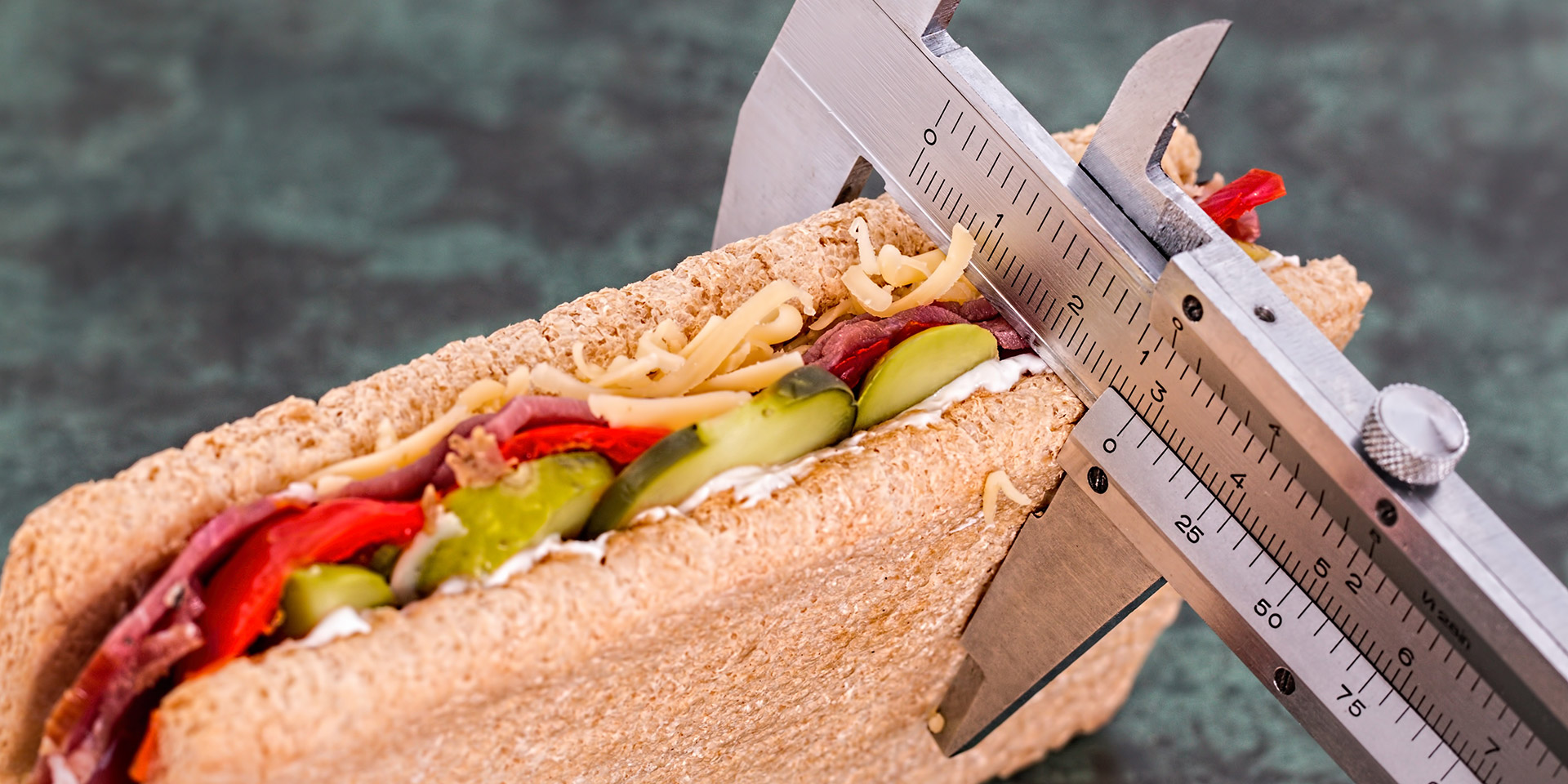 Measuring the thickness of a sandwich