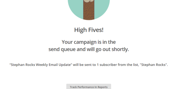 MailChimp High Five Celebration