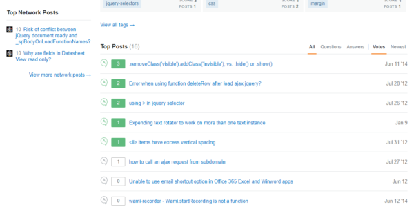 StackExchange screenshot showing profile overview